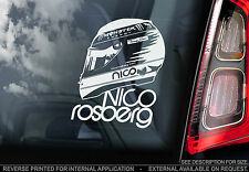 Nico Rosberg - F1 Car Window Sticker - 'Helmet' Design Mercedes Formula 1 Sign
