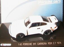 PORSCHE 911 CARRERA RSR 2.7 1974 WHITE KDW 1/43 WEISS 711COLLECTION BLANC