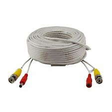 New 100ft 30M BNC CCTV Video Power Cable CCD Security Camera DVR Wire Cord White