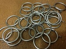 50 pack of Metal Curtain Rings for 29 mm Pole -silver