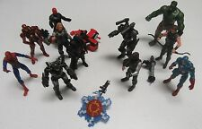 "Marvel Universe 3.75"" 11 Figure Lot Avengers Movie Iron Man Spider-Man Parts"