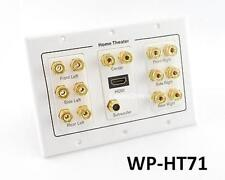 3-Gang 7.1 Surround Sound Distribution Audio Wall Plate w/ HDMI, RCA, WP-HT71