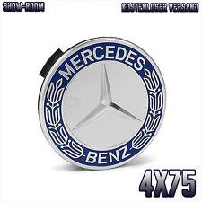 4x Mercedes Benz Felgendeckel Abdeckung Naben kappe Nabendeckel Blau 4 x 75mm