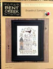 PATTERN counted cross stitch brownbird sampler BENT CREEK primitive alphabet