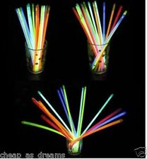 "100 X 8 ""BRACCIALI LUMINOSI collane NEON COLOURS PARTY OMAGGI Rave Discoteca"