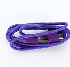 Purple 1m Braided USB Data cable charge for Apple iPod iPhone 4S 4 4G 3,Ipad 2,3