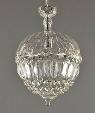 Crystal Le Pomme Czech Pendant c1930 Vintage Antique Glass Ceiling Pendant Light