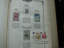 US Old Stamps on Album Page 1957 Mint & Used