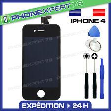 VITRE TACTILE POUR IPHONE 4 NOIR + ECRAN LCD RETINA SUR CHASSIS + OUTILS + FILM