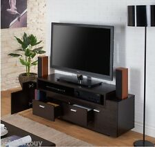 "TV Stand Home Entertainment Media Center 60"" Flat Screen Storage Console Shelves"