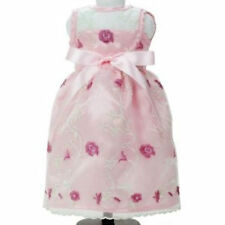 Sophia's PINK SATIN DRESS with EMBROIDERED FLOWER OVERLAY for Doll American Girl