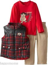 Boys Rock Baby Boy Outfit 3 Piece Vest Set with Top and Corduroy Pant 24 Months
