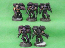 WARHAMMER SPACE MARINES ARMY - ASSAULT MARINES X 5 PAINTED B