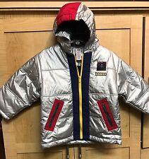 NWOT Vintage Gymboree Boys Jacket Coat Size 5 Astronaut Space Silver 80's 90's L