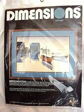 Dimensions Crewel #1268 HARBOR REFLECTIONS Unopened Needlepoint kit 1984