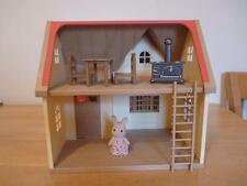 SYLVANIAN FAMILIES ROSE COTTAGE HOUSE WITH FURNITURE AND FIGURE BOXED