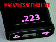 .223 MAGAZINE STICKERS fits MAGPUL PMAG 30 GEN M3 AR15-M16-M4 PINK NUMBERED 1-6