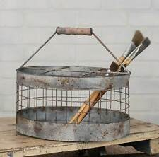 Farmhouse/Cottage/Primitive/Country Oval Milk Crate Caddy Basket