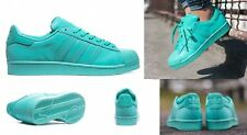 new ADIDAS SUPERSTAR ADICOLOR mint green shoes men's 11.5 46 sneakers kicks