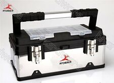 "Stainless Steel Polypropylene Combination Tool Box With Tote 16"" (RTG-232)"