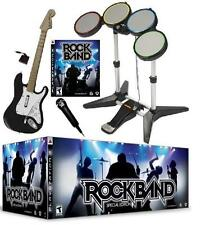 NEW PS3 Rock Band Special Edition Bundle Kit Drums Guitar Game Mic RockBand RARE
