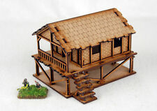Far East or Jungle WOVEN PALM STYLE VILLAGE HOUSE 15mm Laser cut MDF K501