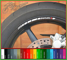 12 x DUCATI Wheel Rim Stickers Decals - Many Colours - monster 848 1198 1098 evo