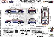 [FFSMC Productions] Decals 1/18 Porsche SCRS Tour de France Auto 1985