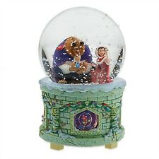 New DISNEY Musical Snowglobe - BELLE & BEAST from BEAUTY AND THE BEAST