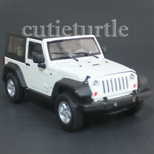 Welly 22489 2007 Jeep Rubicon with Top 1:24 Diecast Model Car White