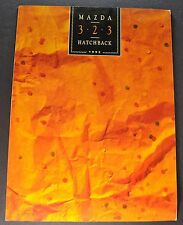 1992 Mazda 323 Hatchback Sales Brochure Folder Excellent Original 92
