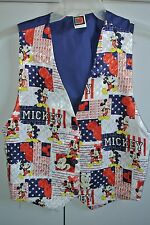 Disney Wms Small  Classic Mickey Mouse Patroitic 4th of July Theme Vest/NWT