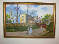 Vintage Original Oil Painting On Board, By G. Roscoe