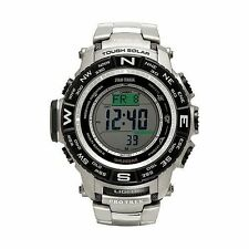 Casio Mens Protrek PRW3500T-7 Compass Titanium Band Solar Atomic Watch