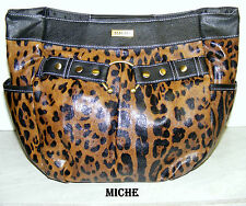 "collectible ""MICHE"" KENDRA *nwot* (SHELL) HANDBAG-see all pics! BROWN ANIMAL PRN"