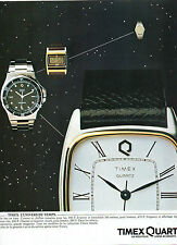 Publicité Advertising 1982  Montre TIMEX  Quartz