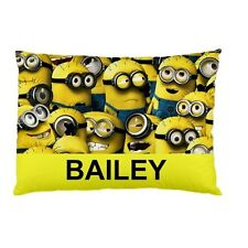 MINIONS Personalized childrens kids bed pillow case