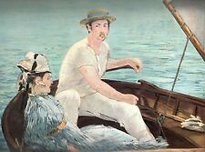"1960 Art Print ""Boating"" By Edouard Manet French Artist Free Shipping"