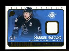 2002-03 Pacific Quest for the Cup Game Worn Jersey #23  Markus Naslund