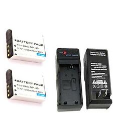 2X Batteries NP-40 NP-40DBA + Charger for Casio EX-FC100 EX-P505 EX-P600 EX-Z100