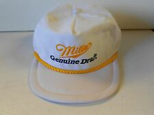 NOS Vtg '90's Miller Genuine Draft Licensed Cap Hat Fits All ADJ Brewmasters!