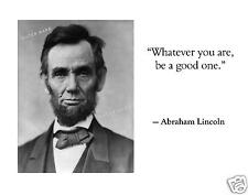 Picture Abraham Lincoln Photo; 11 x 14 Print; US President w/ Quote; Civil War