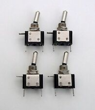 4 BBT Water Resistant Lighted Amber 12 v LED Heavy Duty 20 amp Toggle Switches