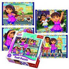 Trefl 4 In 1 35 + 48 + 54 + 70 Piece Girls Kids Dora & Friends Jigsaw Puzzle NEW