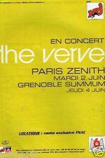 Publicité Advertising 1998 Concert The Verve Paris Zenith