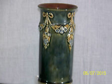 Antique Royal Doulton Lambeth Floral Drape High Glazed Vase