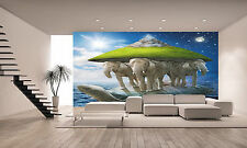World Turtle Wall Mural Photo Wallpaper GIANT DECOR Paper Poster Free Paste