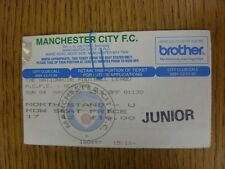 04/05/1997 Ticket: Manchester City v Reading (creased). Unless stated previously