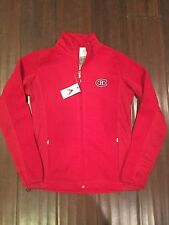 Montreal Canadiens Womens Large Fleece Antigua Zip Up Jacket .  NHL NEW Ladies