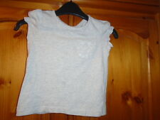 Cute girls light grey gathered cap sleeve top, NEXT ?, 2-3 years